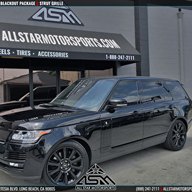 Black Land Rover Range Rover | Blackout Package | STRUT Grille and Panel Kit