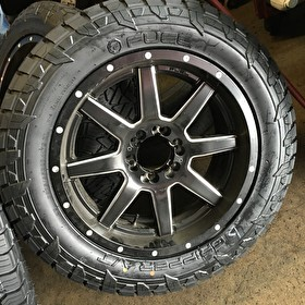 Fuel Offroad Wheels D538 Maverick Black/Milled on Fuel Gripper A/T 275/55R20 Tires