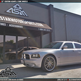 "Silver Dodge Charger | Custom 22"" Asanti Two-Tone"