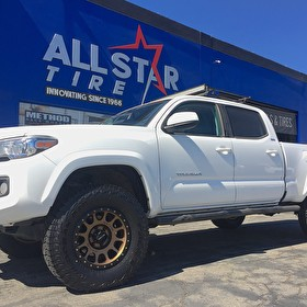 2017 Toyota Tacoma | Method Wheels NV Bronze 17x9 |  Falken Wildpeak AT3 285/75R17 Tires