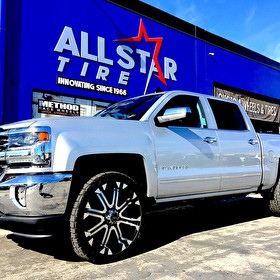 Martin Chevrolet 2017 Silverado 1500 with Readly Lift Leveling Kit | 24 Inch Tuff Offroad Wheels wrapped in 285/40R24 Nitto Grappler All Terrain Tires