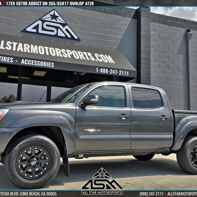 Charcoal Gray Toyota Tacoma | 17x9 XD Series XD798 Addict Matte Black