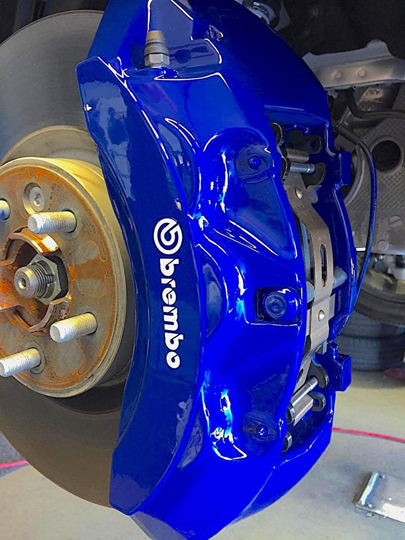 SVR Blue Custom Painted Brembo Brake Calipers