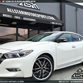 2016 Nissan Maxima | 20x8.5 Lexani LSS-55 Black/Machined w/ SS Lip