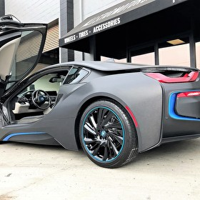 Custom Wrapped BMW i8 | Custom Painted Blue Matching Pinstripe