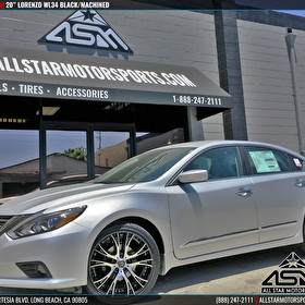 Gardena Nissan 2016 Altima | 20x8.5 Lorenzo WL34 Black/Machined