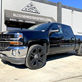2017 Chevrolet Silverado on 24 Inch XD778 Monster and Nitto Terra Grappler 285/40R24 Tires