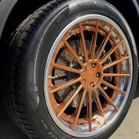 Custom Finish 20 Inch Rotiform Gold Copper Finish