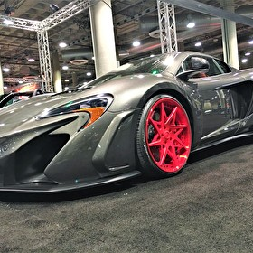 McLaren on Custom Painted Red Forgiato Rims