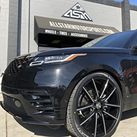 All Lexani Range Rover Velar | 24x9 Lexani Gravity Wheels Black Machined with 275/35R24 Lexani Tires