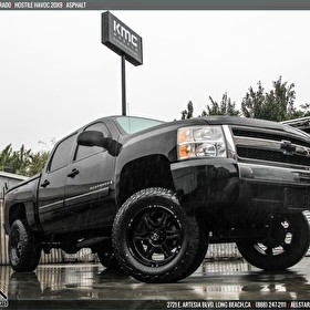 2015 Chevy Silverado on 20x9 Hostile Havoc Asphalt Finish Off-Road Wheels