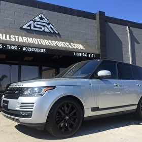Silver Land Rover Range Rover | Custom Blackout Package | Grille, Wheels, Side Trim - Call Today