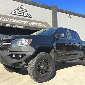 2017 Chevrolet Colorado Lifted with King Shocks | Fab Fours Custom Front Bumper | Fuel D531 Hostage 17x9 on Nitto Ridge Grappler 285/75R17 Tires