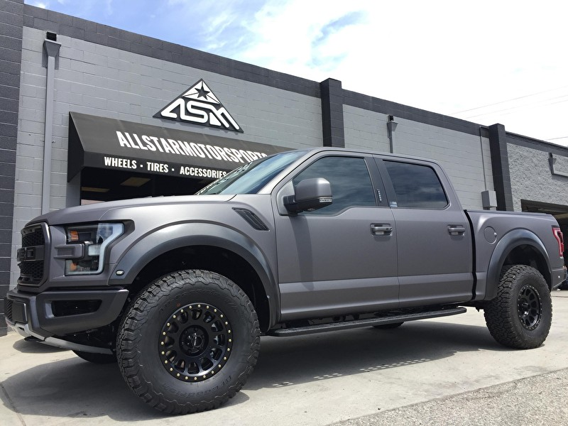 2017 Ford Raptor Custom Wrap and 17x8.5 Inch Method NV 305 ...
