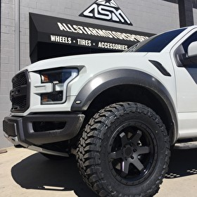 Rotiform Six 20 Inch Wrapped in Toyo Open Country M/T 35x12.50R20 Tires New Ford Raptor