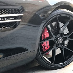 Double Take on the Savini BM14 Black di Forza 22x9 Fronts on this Mercedes GT AMG