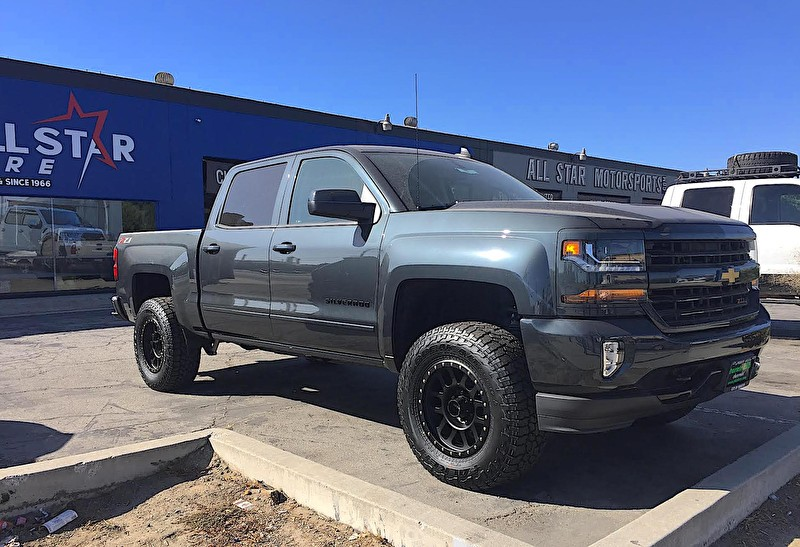 2017 Chevy Silverado With 4 Ready Lift Kit 18x9 Method Nv Satin