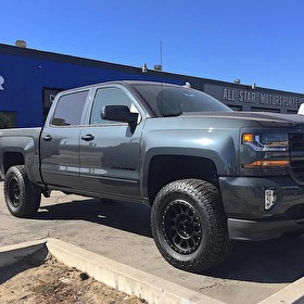 "2017 Chevy Silverado with 4"" Ready Lift Kit 