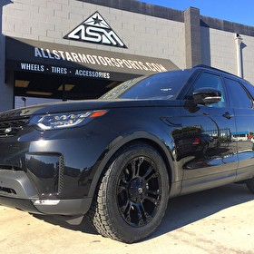 2017 Land Rover Discovery | Blackout Package | Offroad Package: 20x9 Fuel D560 Vapor Wheels on 275/55R20 Nitto Terra Grappler G2 Tires