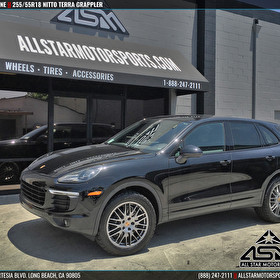 Black Porsche Cayenne Upgraded to 255/55R18 Nitto Terra Grappler