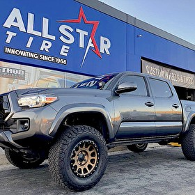 Toyota Tacoma with Level Kit | Method NV Bronze 17x8.5 Wheels on BF Goodrich All Terrain T/A KO 285/70R17 Tires