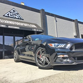 Ford Mustang EcoBoost on Blaque Diamond BD-1 Wheels Graphite Gray
