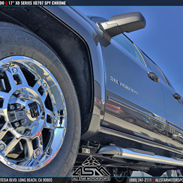 Chevy silverado 17 inch kmc xd series xd797 spy chrome for Jstar motors anaheim hills