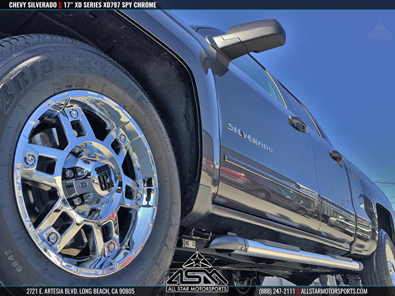 Chevy Silverado 17 Inch KMC XD Series XD797 Spy Chrome