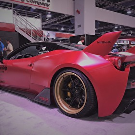 Slammed Ferrari @ The SEMA Show in Las Vegas, NV