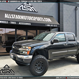 Black Chevy Colorado Lifted on BF Goodrich All Terrain T/A KO2 285/75R16
