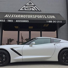 2018 Silver Corvette Stingray | Custom Blackout Package | Powdercoated Wheels