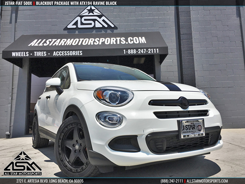 Fiat 500X Blackout | ATX AX194 Ravine Black Wheels