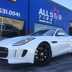White Jaguar F-TYPE | Custom Blackout Package
