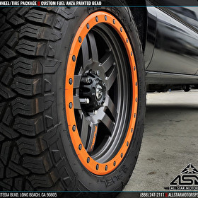 Fuel Offroad Wheels D558 Anza Custom Painted Bead | Fuel Gripper A/T Tires