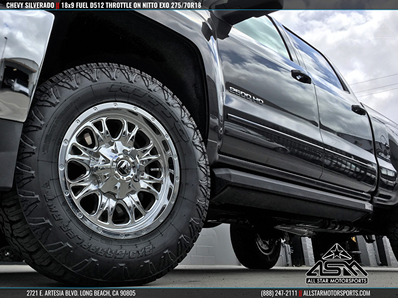 Chevrolet Silverado | Fuel Offroad D512 Throttle 18x9 | Nitto Exo Grappler