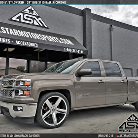 "Lowered Chevrolet Silverado 5"" / 3"" Lowering Kit 