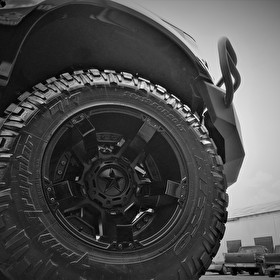 F350 Super Duty on 20x12 XD811 Rockstar 2 All Black and Nitto Trail Grappler M/T