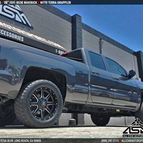 Chevrolet Silverado Leveled | 20x9 Fuel Offroad D538 Maverick | Nitto Terra Grappler Tires