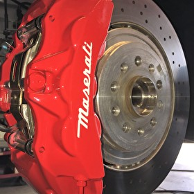 Custom Painted Red Maserati Brake Calipers | Custom Paint Offered in Variety of Colors