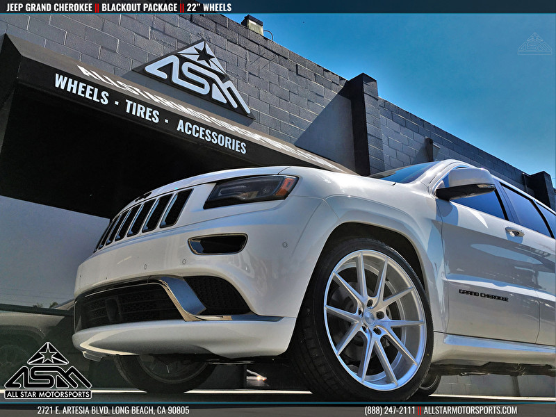 """White Jeep Grand Cherokee 