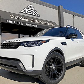 White Land Rover Discovery Offroad Package | Blackout with Powdercoated Calipers | Fuel D560 Vapor Wheels 20 Inch and Nitto Terra Grappler G2 Tires