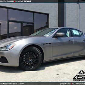 JSTAR Motors Maserati Anaheim Hills Ghibli Blackout Wheels | Emblems | Window Trim