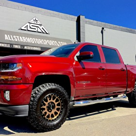 Lifted 2017 Chevrolet Silverado 1500 | Method Wheels NV Bronze 18x9 +0 Offset | Lexani Mud Beast 35x12.50R18