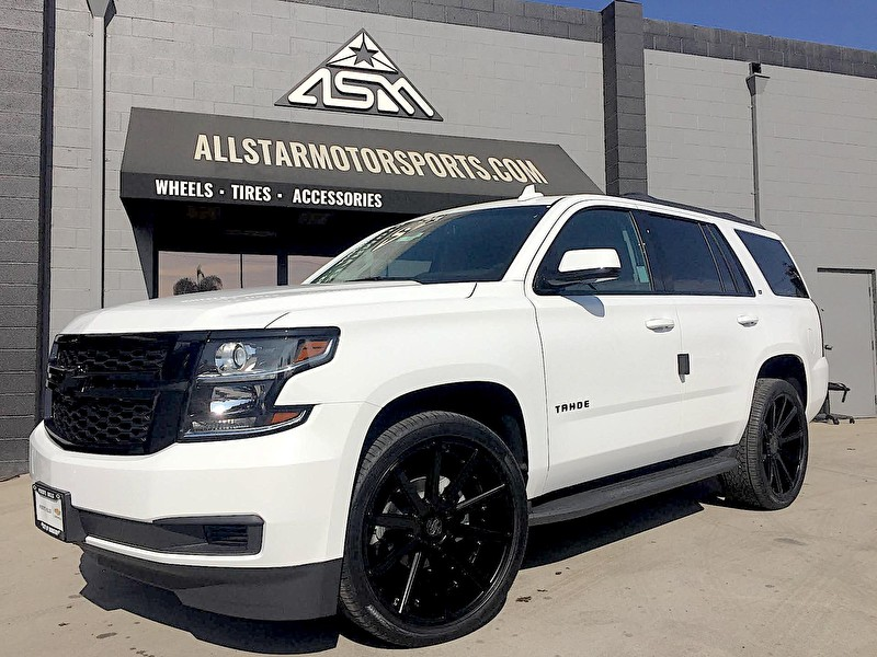 Puente Hills Chevrolet | Blackout Package on Chevy Tahoe with 24 Inch Versante Wheels