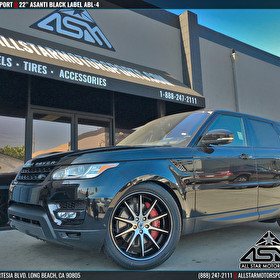 Black Range Rover Sport | 22 Inch Asanti Black Label ABL-4 Black/Machined