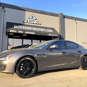 Maserati Ghibli | Blackout Package | Powder Coated Black Wheels