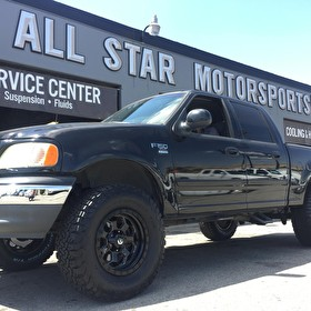 Ford F150 on 20x9 Fuel D563 Savage Black and Milled