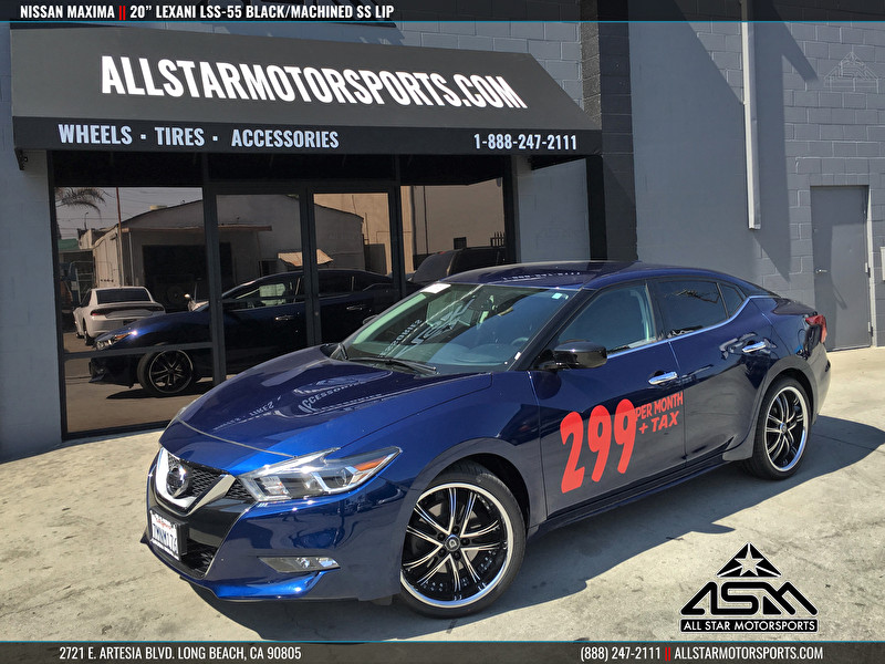 "2016 Nissan Maxima | 20"" Lexani LSS-55 Black/Machined with SS Lip"