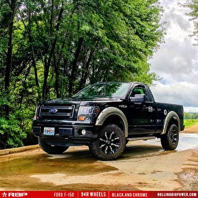 Black Ford F150 | 20 Inch RBP Offroad 94R Black with Chrome Inserts