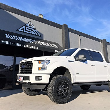 White ford f150 lifted 20x10 fuel offroad d538 maverick for Jstar motors anaheim hills